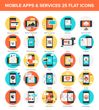 application software: Mobile Applications icons