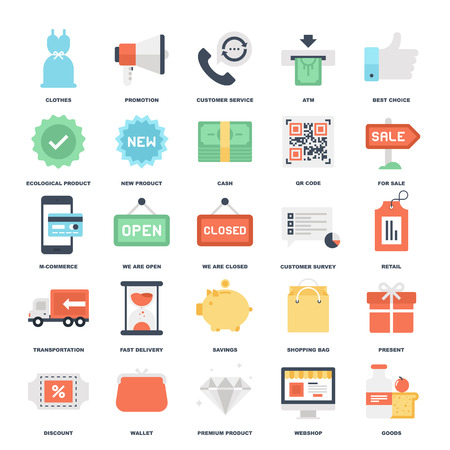 Shopping and Commerce icons Imagens - 39663769
