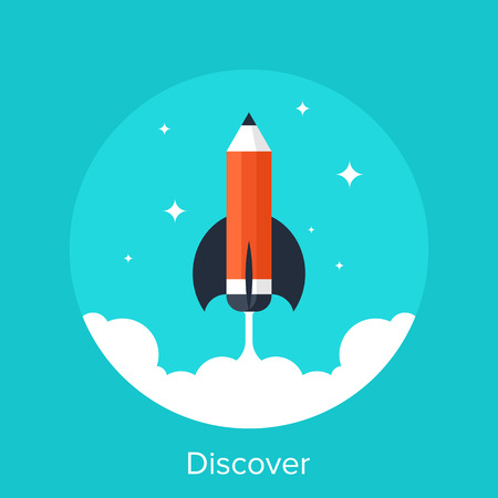 Abstract vector illustration of discover flat design concept.