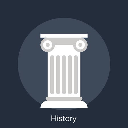 pillar: Abstract vector illustration of history flat design concept.