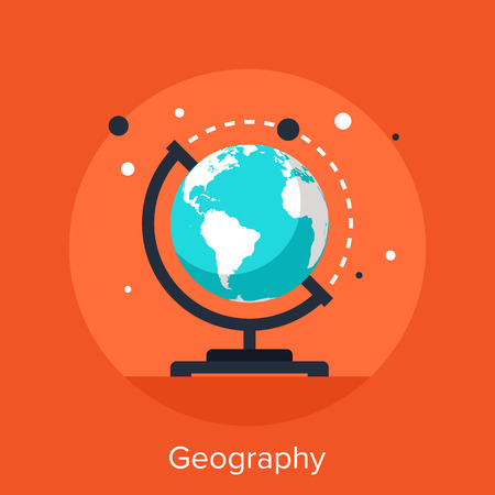geography: Abstract vector illustration of geography flat design concept.