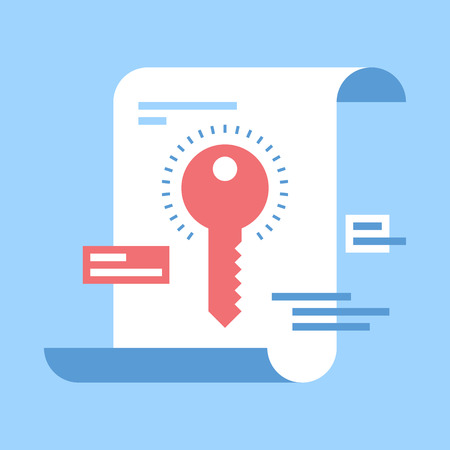keywording: Abstract vector illustration of keywording flat design concept. Illustration
