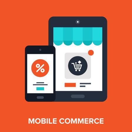 Mobile Winkelen Stock Illustratie
