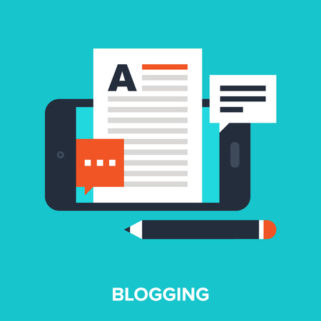 blog icon: mobile blogging Illustration