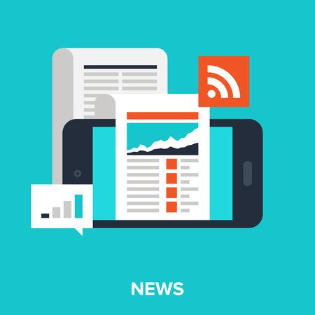 noticias móviles Ilustración de vector