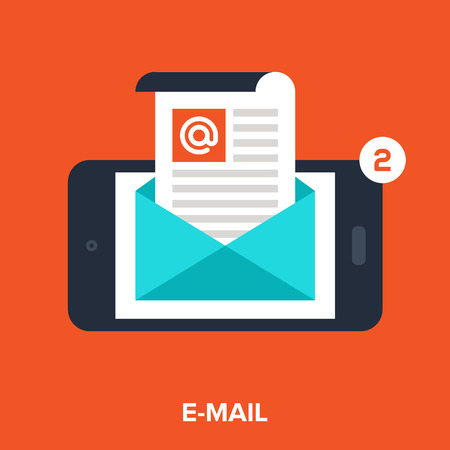 mobile E-Mail Illustration