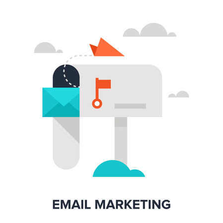 social marketing: email marketing Illustration