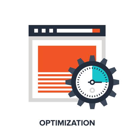 interface menu tool: optimization Illustration