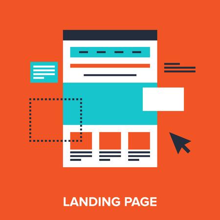 landing page  イラスト・ベクター素材
