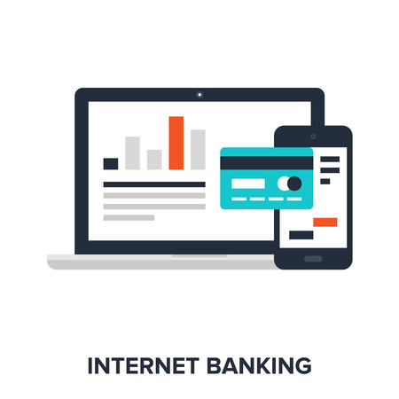 bank deposit: internet banking Illustration