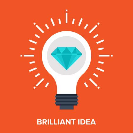 icon the idea: brilliant idea