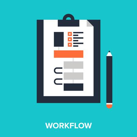 workflow: flux de travail Illustration