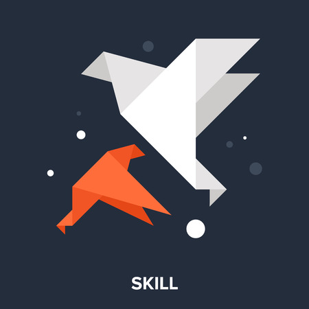 paper art projects: skill icon Illustration
