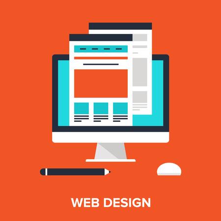 웹 디자인 일러스트