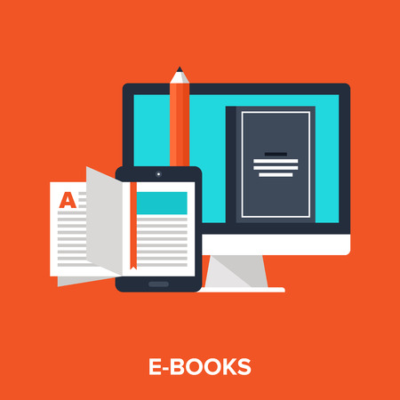 learning concept: e-books Illustration