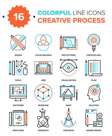 創造的なプロセス  イラスト・ベクター素材