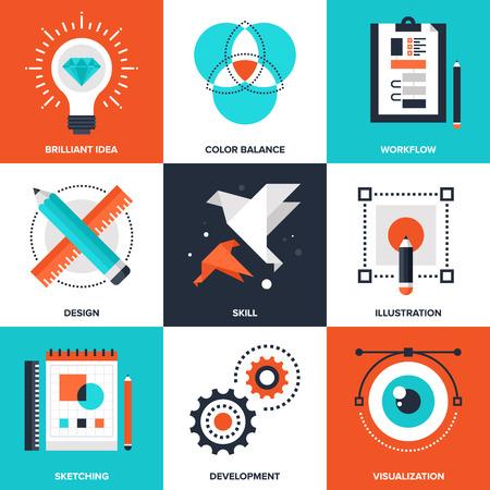 equilibrio: Proceso Creativo Vectores