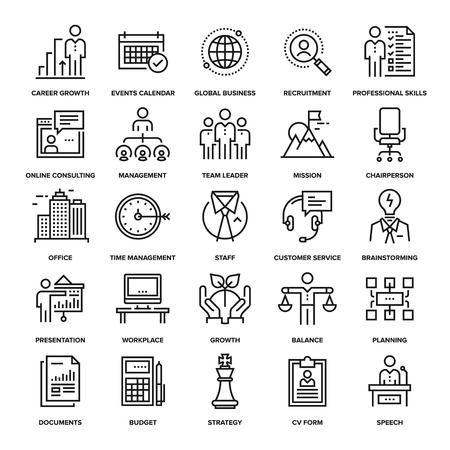 Abstract vector collectie van online corporate business iconen. Elementen voor mobiele en web applicaties.