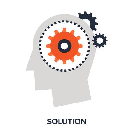 funding: Vector illustration of solution flat design concept.