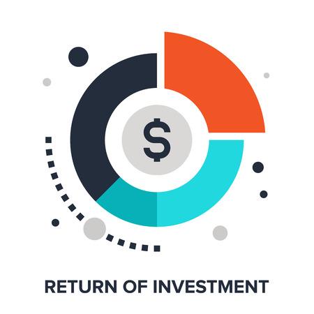 liftoff: Vector illustration of return of investment flat design concept.