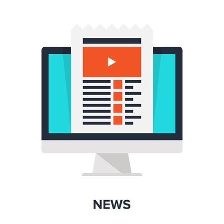 release: Vector illustration of news flat design concept.