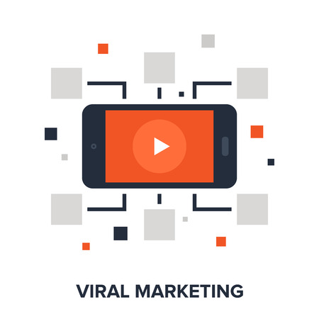 media network: Vector illustration of viral marketing flat design concept.