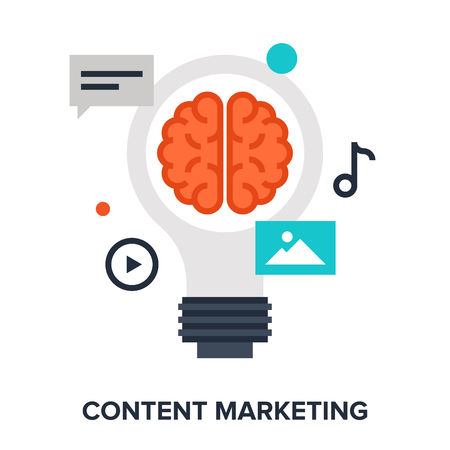 Vector illustration of content marketing flat design concept. Illustration