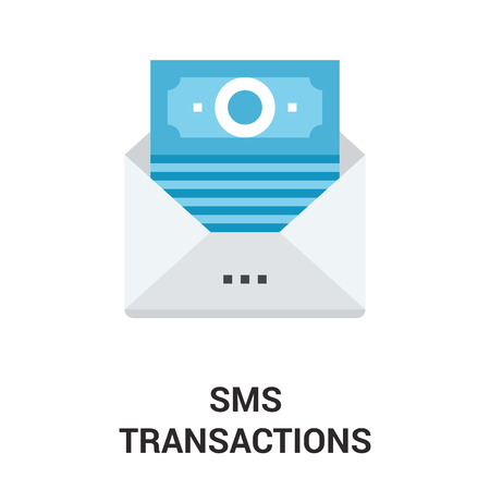 sms payment: Modern flat vector illustration icon design concept. Icon for mobile and web graphics. Flat symbol, logo creative concept. Simple and clean flat pictogram
