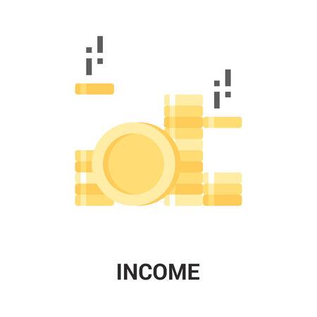 deposit: Modern flat vector illustration icon design concept. Icon for mobile and web graphics. Flat symbol, logo creative concept. Simple and clean flat pictogram