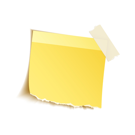torn: Sticky notes on white