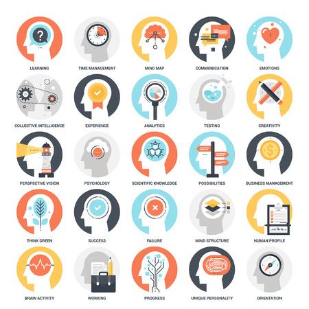 Thinking and Brain Activity Stock Illustratie