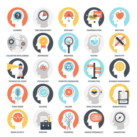 Thinking and Brain Activity Ilustração