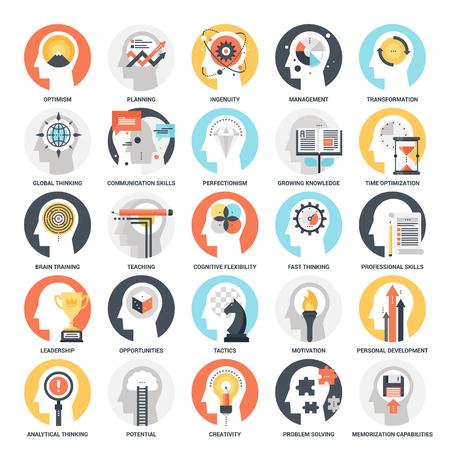 Ikony umiejętności osobistych Ilustracje wektorowe
