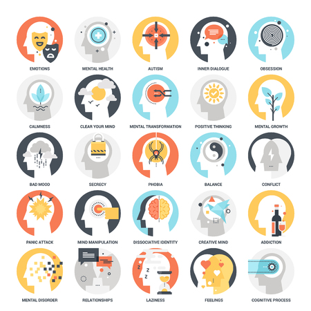 Human Psychology Icons Stock Vector - 70982889