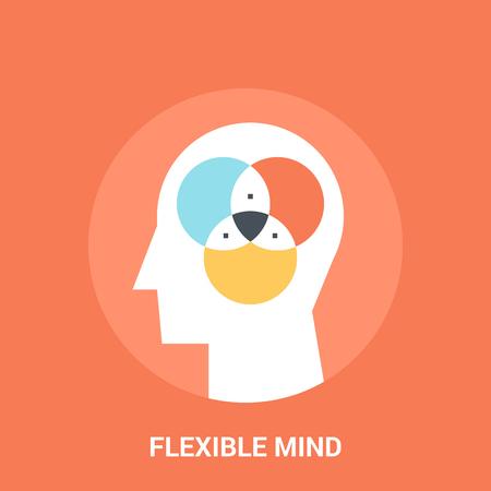 illustration abstraite de vecteur de concept icône esprit flexible