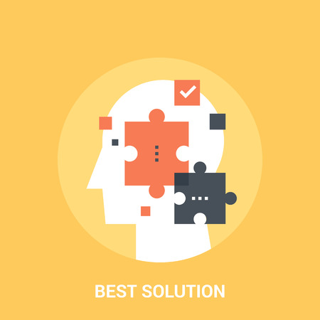 Abstract vector illustration of best solution icon concept Illustration