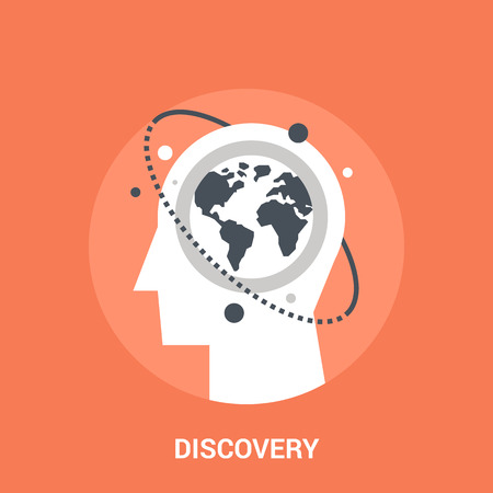 Abstract vector illustration of discovery icon concept