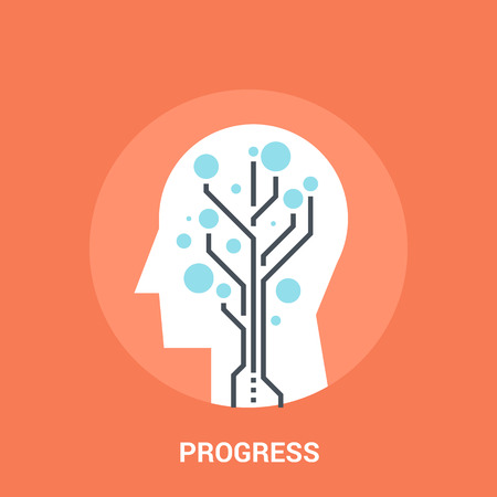 Abstract vector illustration of progress icon concept