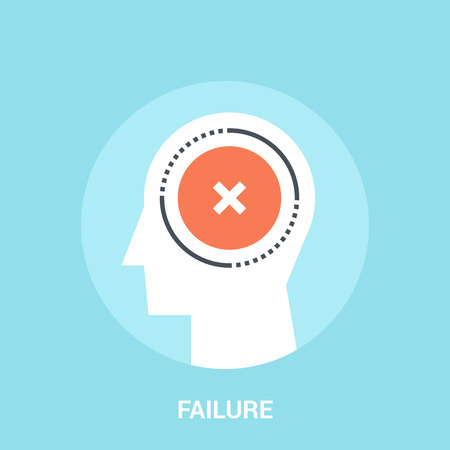 Abstract vector illustration of failure icon concept Illustration