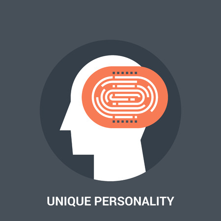 Abstract vector illustration of unique personality icon concept