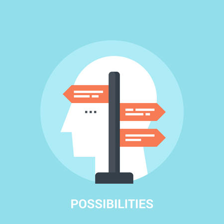possibilities: Abstract vector illustration of possibilities icon concept