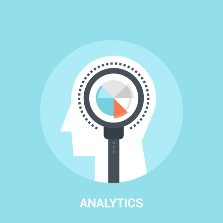 Abstract vector illustration of analytics icon concept Illustration