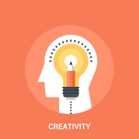 Abstract vector illustration of creativity icon concept