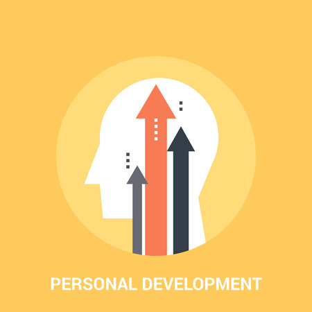 Abstract vector illustration of personal development icon concept