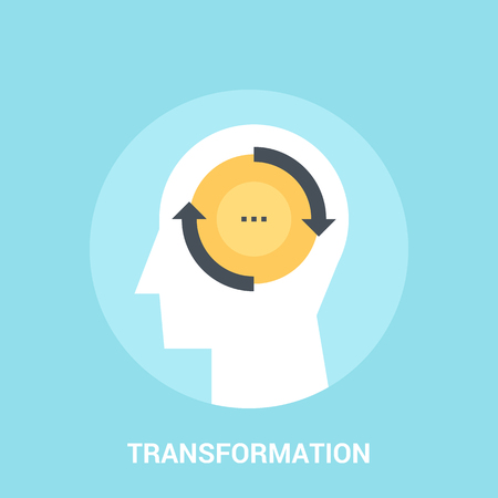 Abstract vector illustration of transfrormation icon concept