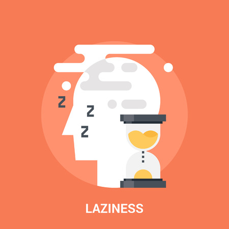 laziness: Abstract vector illustration of laziness icon concept