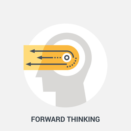 personality development: Abstract vector illustration of forward thinking icon concept