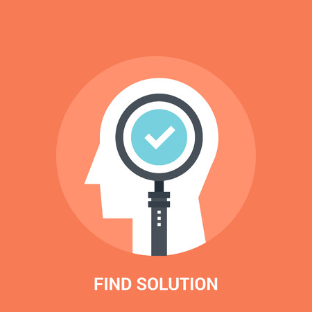 personality development: Abstract vector illustration of find solution icon concept