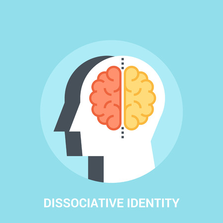 Abstract vector illustration of dissociative identity icon concept