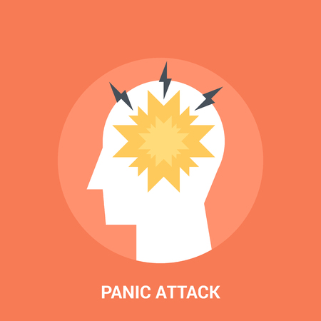 panic attack: Abstract vector illustration of panic attack icon concept